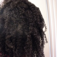 Close up of natural hair with curls defined